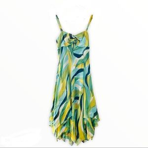 New 90s Anne Klein silk boho prom dress NWT
